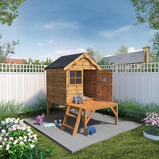 Mercia 6 x 5 ft Timber Snug Playhouse