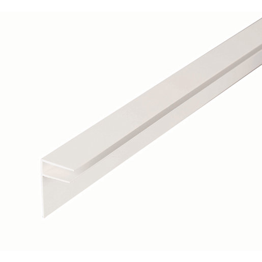 10mm PVC Side Flashing - White 4m
