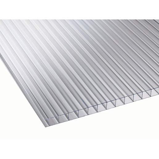 10mm Clear Multiwall Polycarbonate Sheet - 2000 x