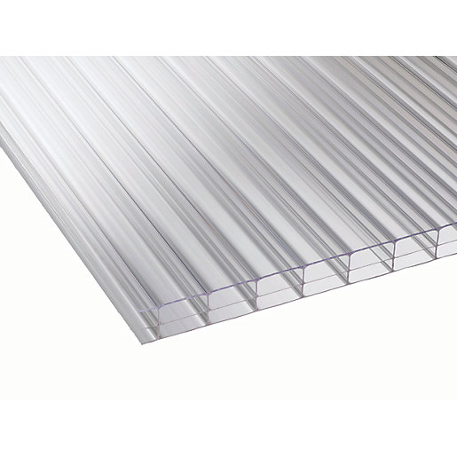 16mm Clear Multiwall Polycarbonate Sheet - 2500 x