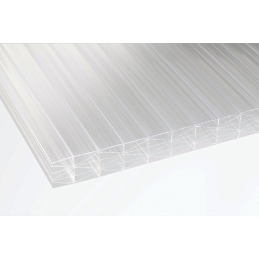 25mm Clear Multiwall Polycarbonate Sheet - 2500 x