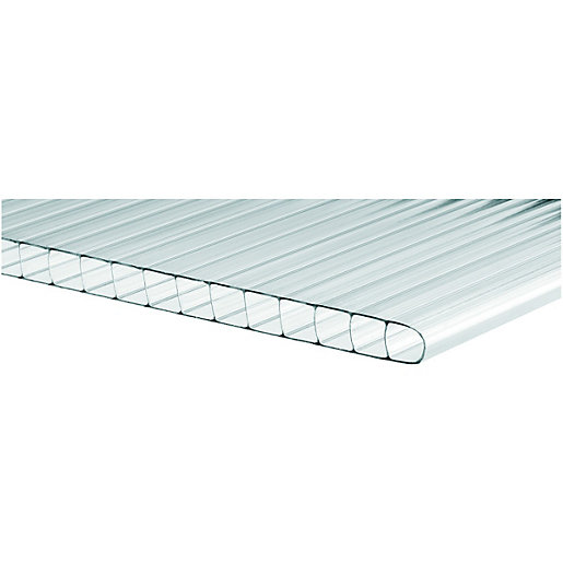 Wickes 10mm Twinwall Polycarbonate Sheet - 700 x