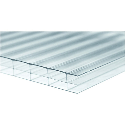 Wickes 16mm Triplewall Polycarbonate Sheet - 900 x