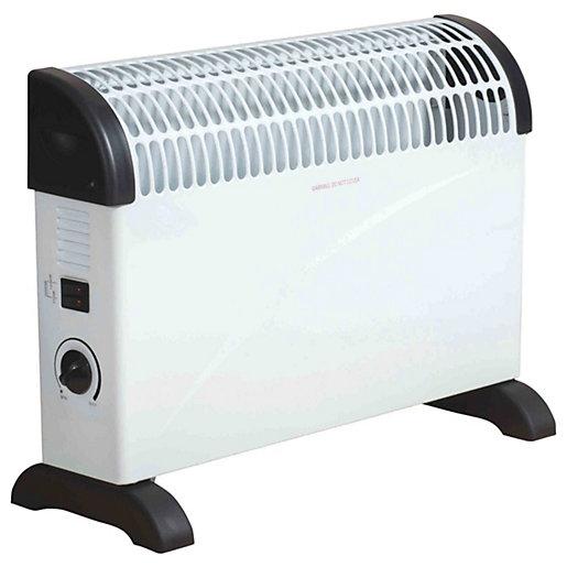 Fine Elements Slim Convector Heater 2kw - White