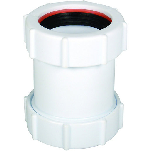 FloPlast WC08 Unicom Compression Waste Straight Coupler -