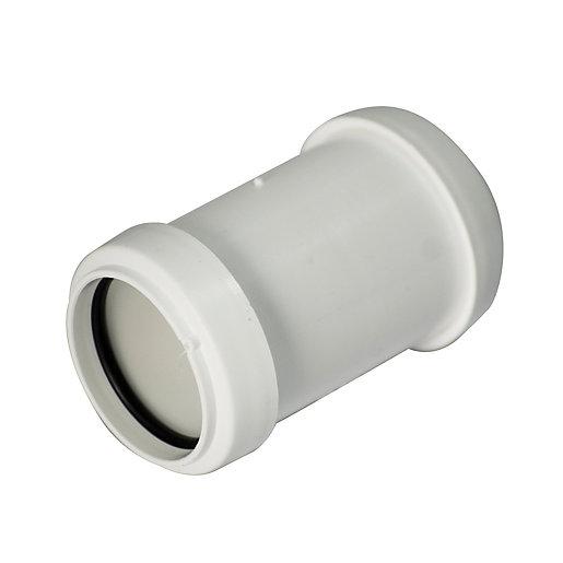 FloPlast WP08W Push-Fit Waste Straight Coupler - White