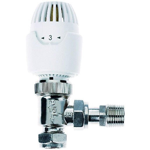 Drayton RT212 15mm Ang TRV White 0808015