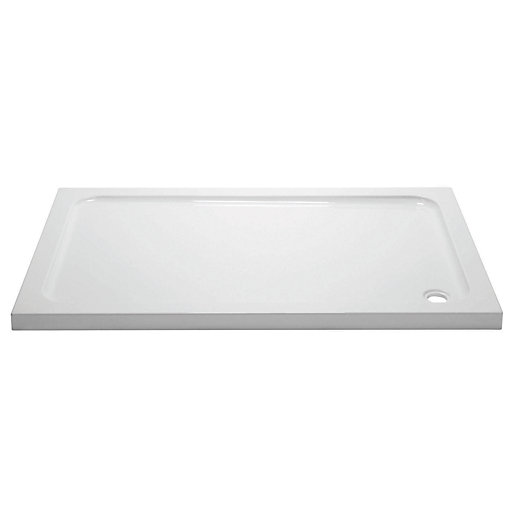 Wickes 45mm Cast Stone Rectangular Shower Tray -