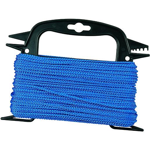 Wickes Blue 3mm Multi-fuctional Polypropylene Rope Length 30m