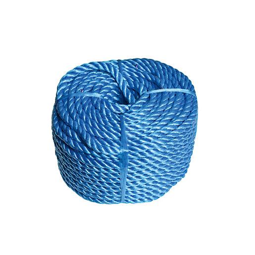 Wickes Blue 8mm Multi-fuctional Polypropylene Rope Length 30m
