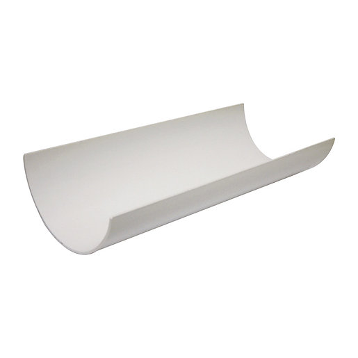 FloPlast 112mm Round Line Gutter Length - White