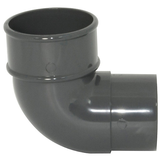 FloPlast 68mm Round Line Downpipe 92.5° Bend -