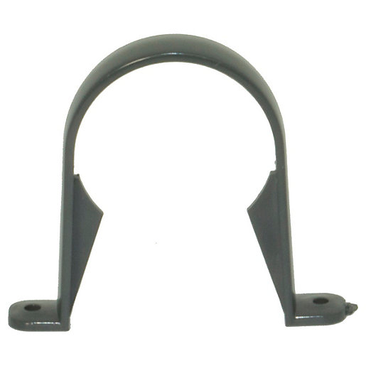 FloPlast 68mm Round Line Downpipe Clip - Anthracite