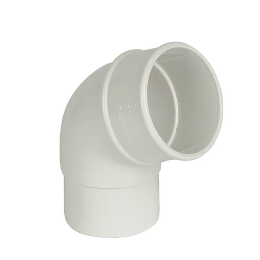 FloPlast 68mm Round Line Downpipe Offset Bend 112.5°