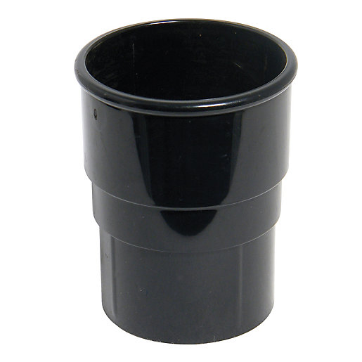 FloPlast 68mm Round Line Downpipe Pipe Socket -