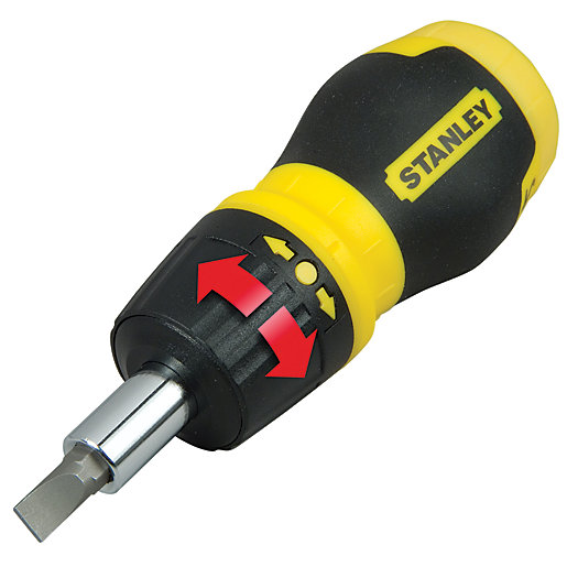 Stanley 0-66-358 Stubby Ratchet Multibit Screwdriver