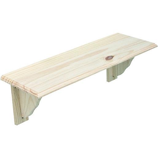 Wickes Pine Shelf Kit - 16 x 190