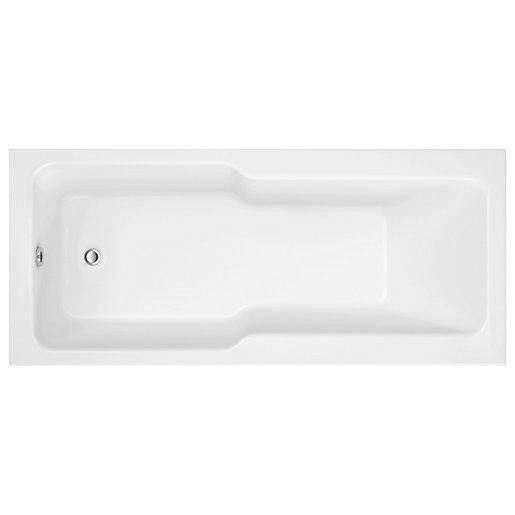 Wickes Acrylic Shower Bath - 1700 x 750mm