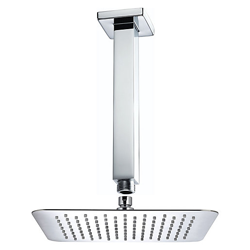 Bristan Square Ceiling Mounted Shower Head & Arm