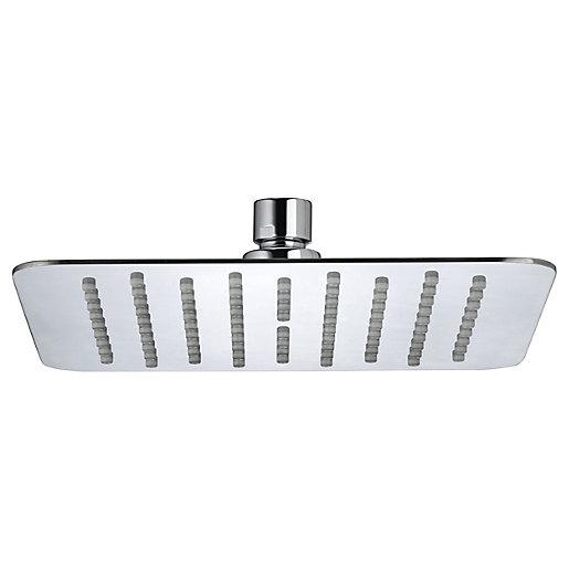Bristan Square Slimline Chrome Shower Head - 300mm