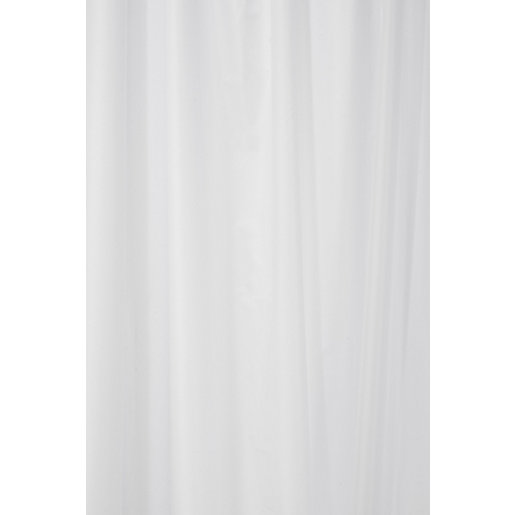 Croydex Hygiene & Clean Plain Textile White Shower