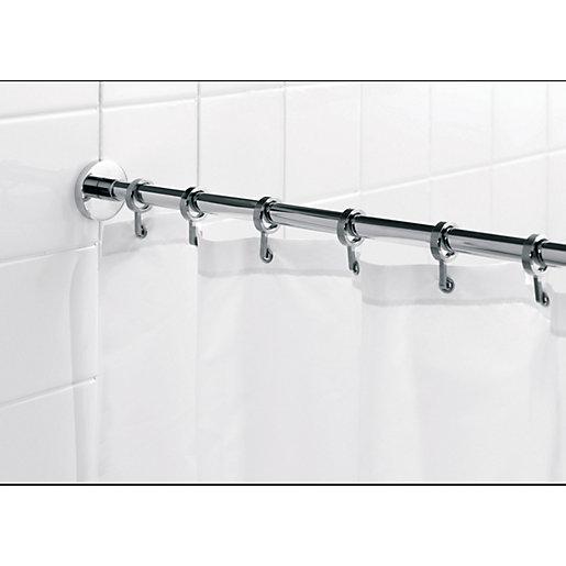 Croydex Luxury Round Shower Curtain Rail - Chrome