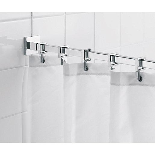 Croydex Luxury Square Shower Curtain Rail - Chrome