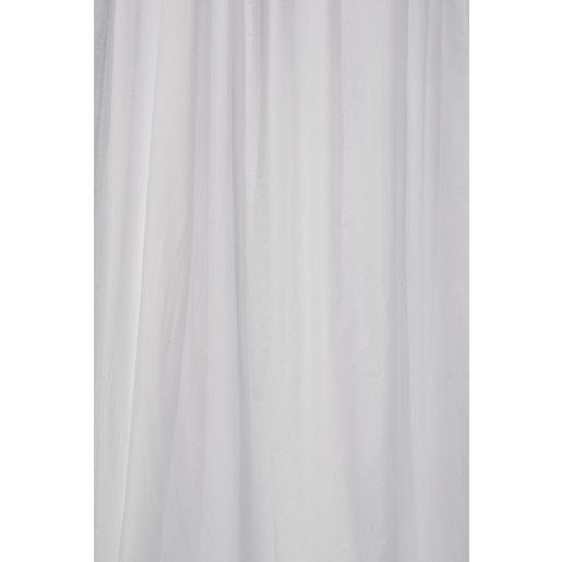 Croydex PVC Bathroom Shower Curtain - White