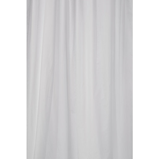 Croydex PVC Shower Curtain - White