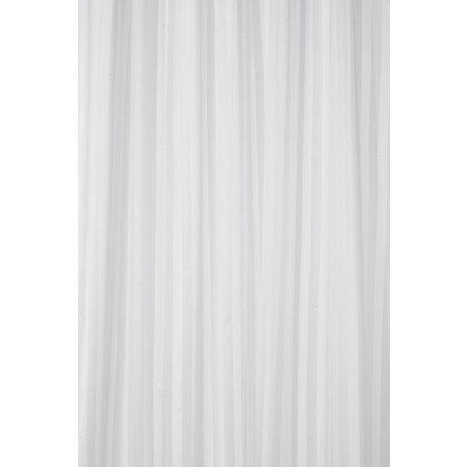 Croydex Shower Curtain - Stripe White