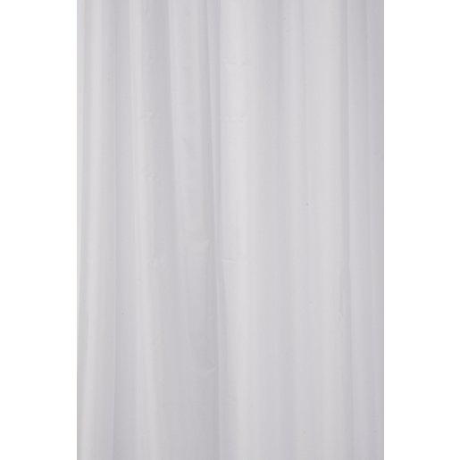 Croydex Textile Bathroom Shower Curtain - White