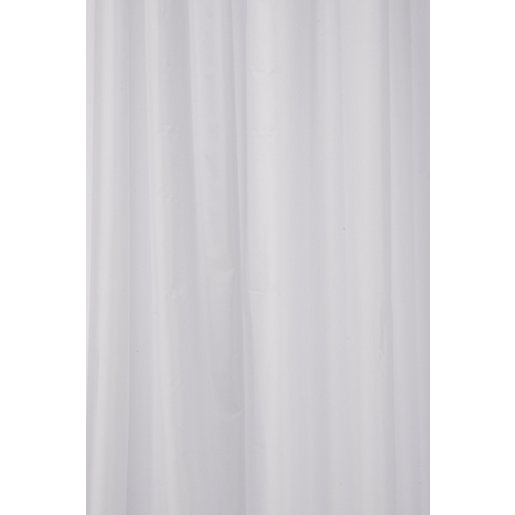 Croydex Textile Shower Curtain - White