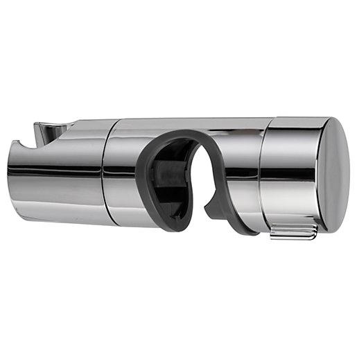 Croydex Shower Riser Rail Slider - Chrome