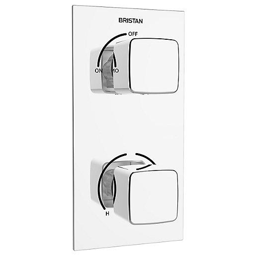 Bristan Cobalt Recessed Thermostatic Dual Control Shower Valve