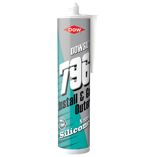 Dow Corning 796 uPVC Silicone Sealant White 310ml