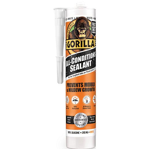 Gorilla All Conditions Sealant White 295ml