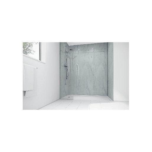 Mermaid Egyptian Marble Gloss Laminate Single Shower Panel