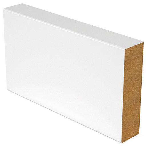 Square White Edge MDF Skirting - 18mm x