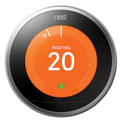 Google Nest Learning Smart 3rd Generation Stainless Steel
