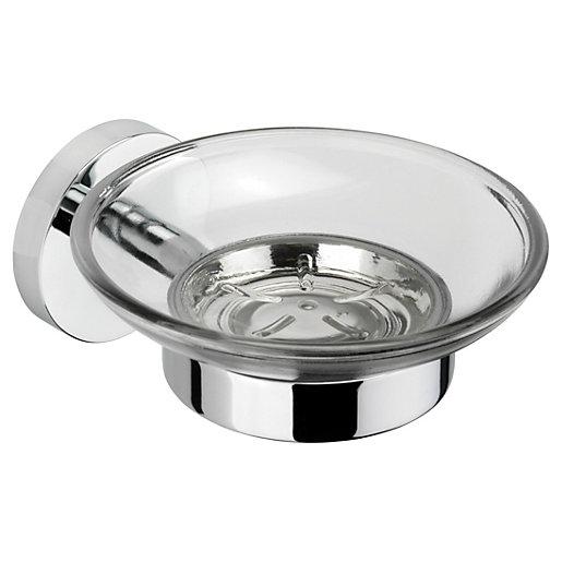 Croydex Pendle Flexi-Fix Chrome Effect Soap Dish
