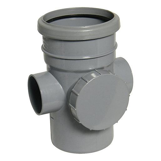 FloPlast 110mm Soil Access Pipe - Grey