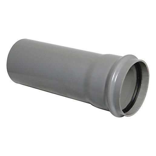 FloPlast 110mm Soil Pipe Single Socket 1m -