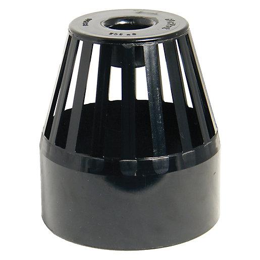 FloPlast 110mm Soil Pipe Vent Terminal - Black