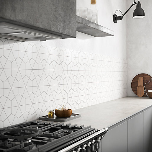 Geometry Alloy Mid Rise Splashback 3050x600mm