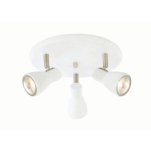 Inlight Curtis Spotlight Plate White - 35W GU10