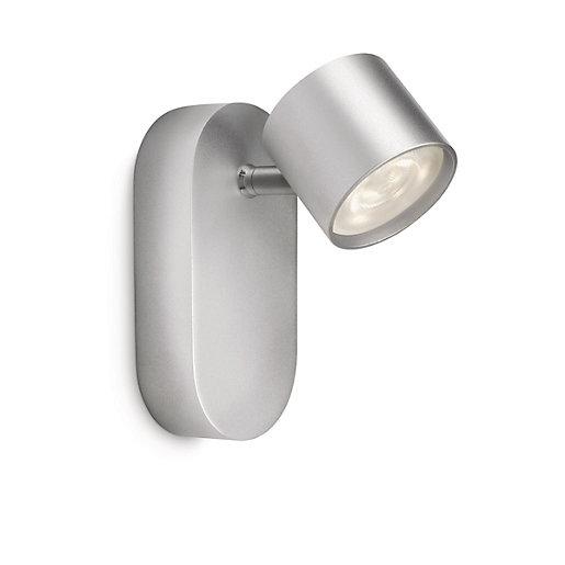 Philips Star LED Aluminium Single Wall Spotlight -