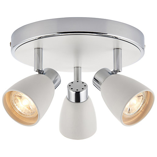 Saxby Major 3 x 4.8W LED Triple Plate