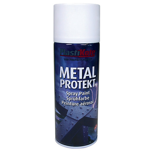 PlastiKote Metal Protekt - Satin White 400ml