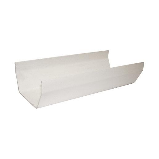 FloPlast 114mm Square Line Gutter - White 4m