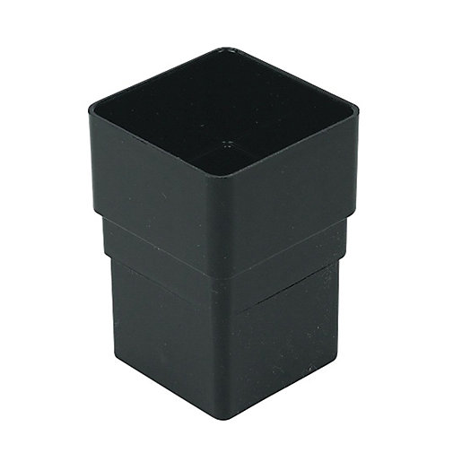FloPlast 65mm Square Line Downpipe Socket - Black